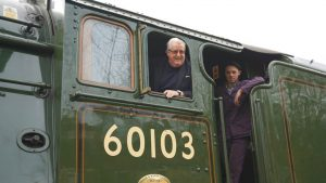 Sir William McAlpine onboard Flying Scotsman