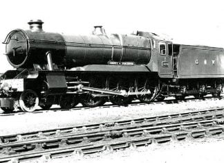 "Official Photo of 1029 ""County of Worcester"", last engine built // Credit John Speller's Web Pages"