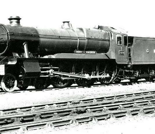 """Official Photo of 1029 """"County of Worcester"""", last engine built // Credit John Speller's Web Pages"""
