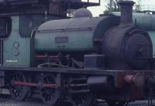 Parts of steam locomotive Rhos are stolen