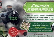 """""""The Asparagus Express"""" Credit Gloucestershire Warwickshire Steam Railway"""