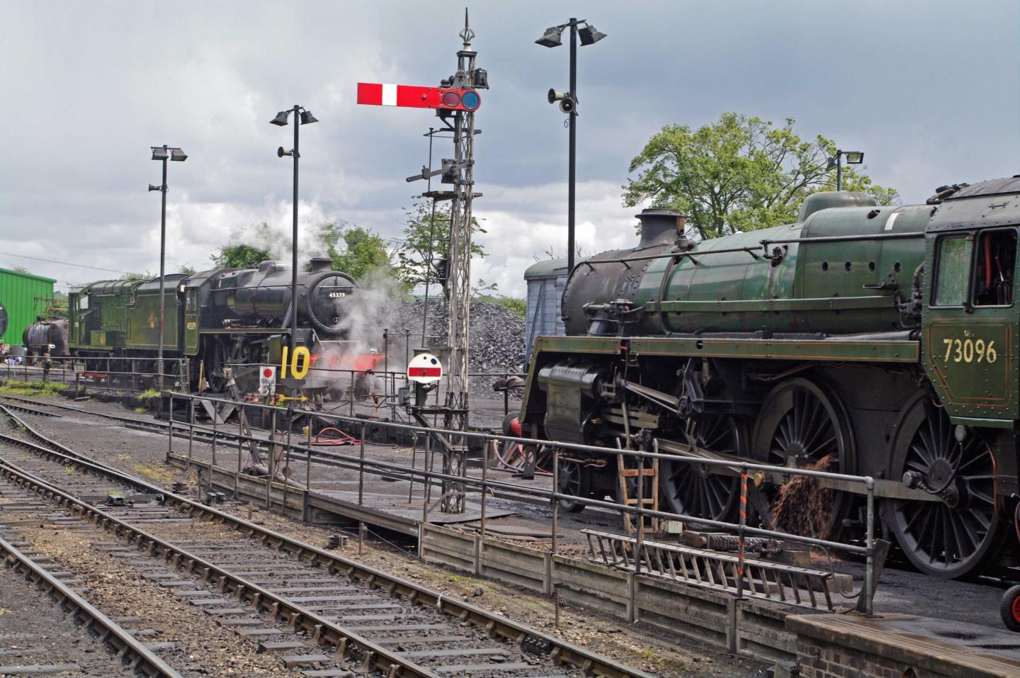 45379 and 73096 at Ropley in 2011 // Credit Preserved British Steam Locomotives