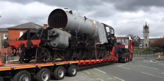 9F No.92134 Leaving for North Yorkshire Moors Railway // Credit 92134 FB Page
