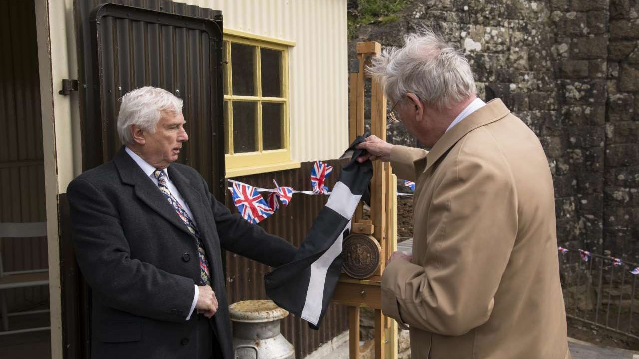 HRH Duke of Gloucester opens Truthall Halt on the Helston Railway