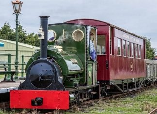 steam locomotive Jurassic on the Lincolnshire Coast Light Railway