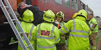 Lincolnshire Wolds Railway takes part in fire and rescue training day