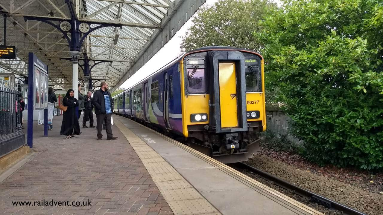 Northern Class 150 No. 150277 arrives into Nelson