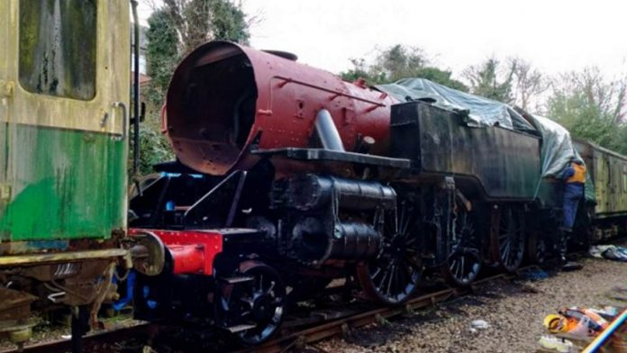 Steam locomotive 80150 gets new cab roof
