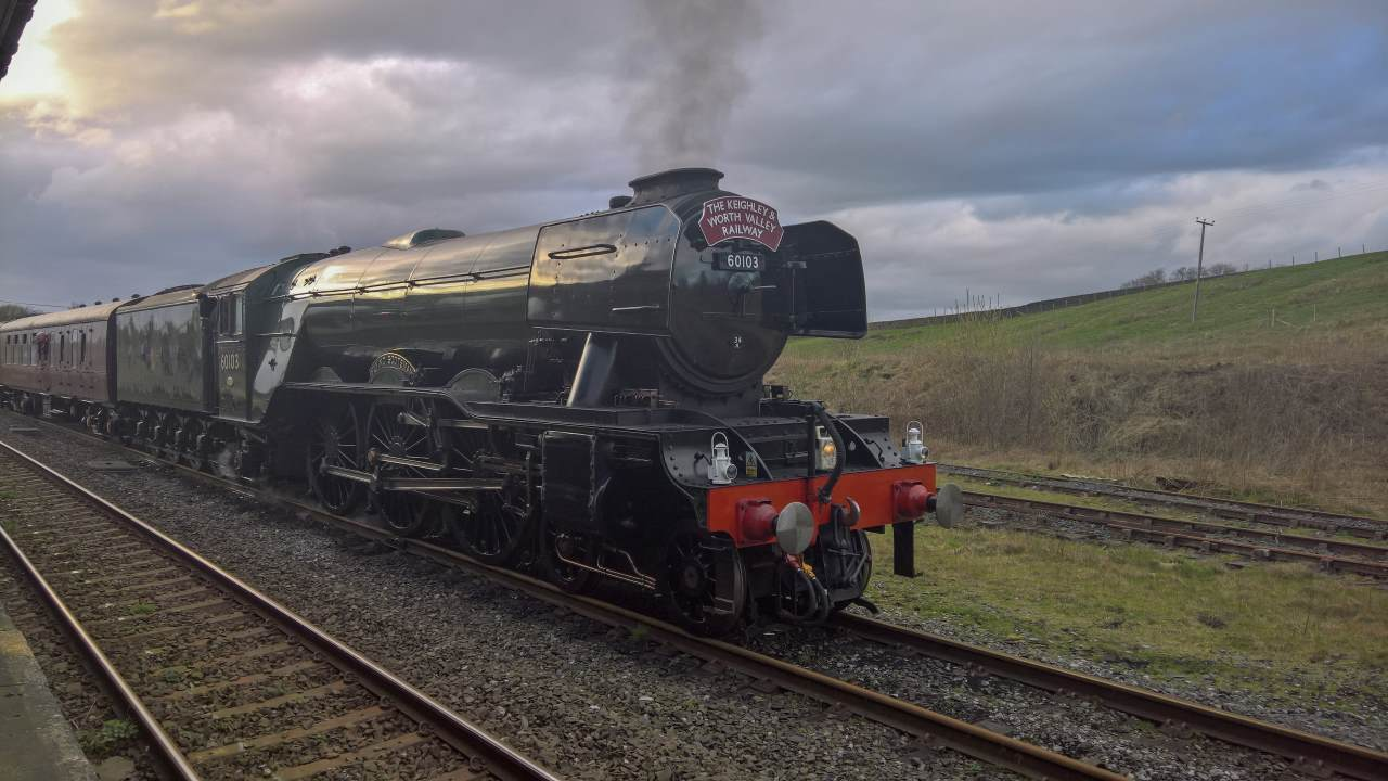 Flying Scotsman at Hellifield // Credit: RailAdvent