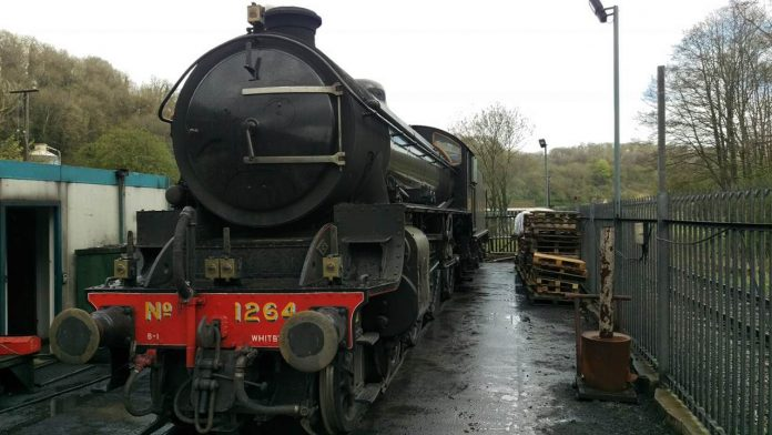 steam locomotive arrives back at the North Yorkshire Moors Railway