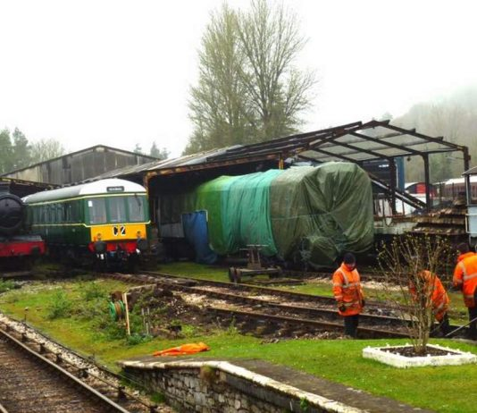 4920 Dumbleton Hall reconnected to the South Devon Railway