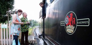 musical steam train at Swanage