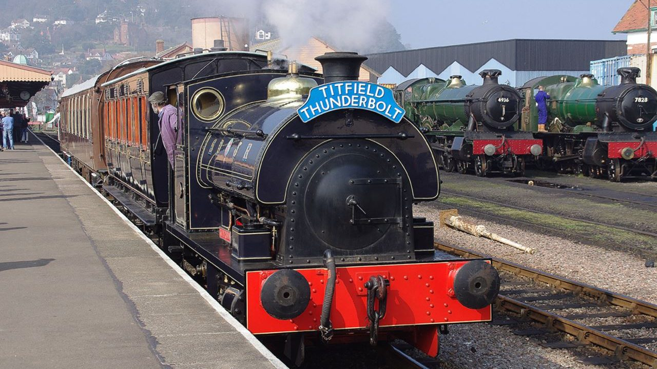 steam locomotive Kilmersdon at the West Somerset Railway
