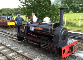 Hugh Napier at the Bala Lake Railway on loan from the Ffestiniog Railway
