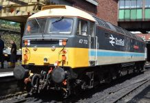 Class 47 47712 Lady Diana Spencer to attend the Severn Valley Railway Spring Diesel Gala