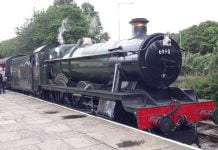 6990 Witherslack Hall at Rawtenstall on the East Lancashire Railway