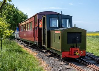 First train over the extension on the Lincolnshire Coast Light Railway