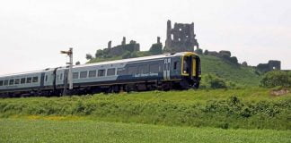 South Western Railway 159 at Corfe Castle