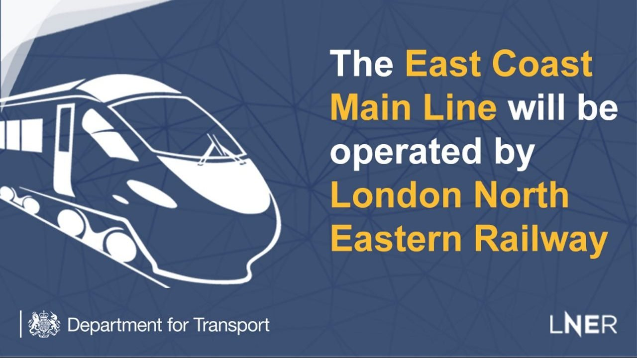 East Coast main line to be brought back under public control