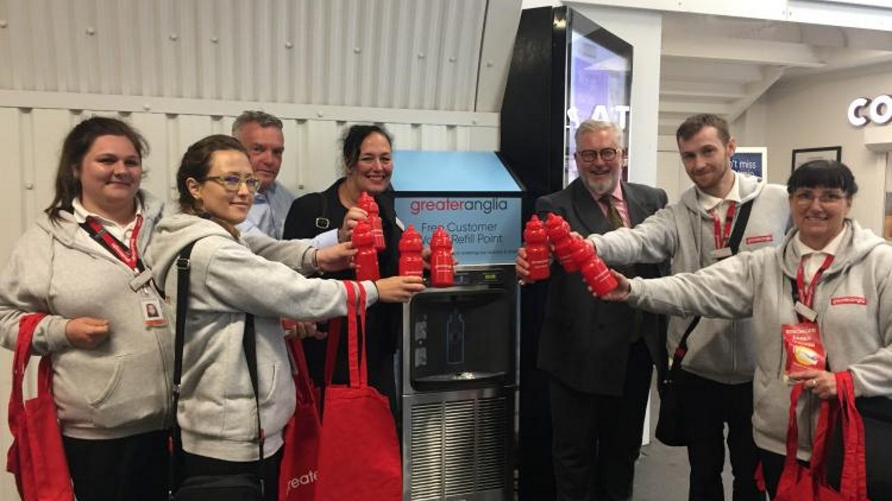 Chelmsford gets a water fountain at its railway station