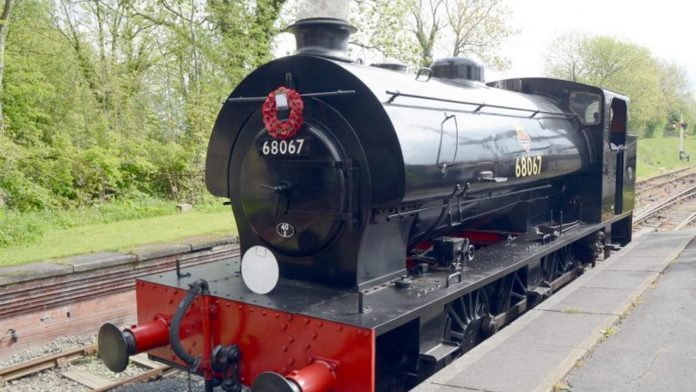 Midland Railway - Butterley host memorial for Sapper Amos