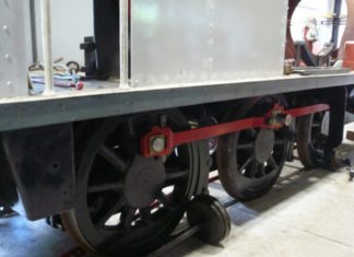 Restoration continues at the Mid Suffolk Light Railway on steam locomotive No.1604