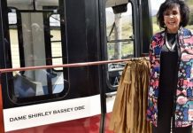 Dame Shirley Bassey gets carriage named after her at the Snowdon MOuntain Railway