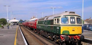 Swange Railway diesel to haul first London to Swanage train since 1966