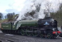 Tornado at Bridgnorth on the Severn Valley Railway