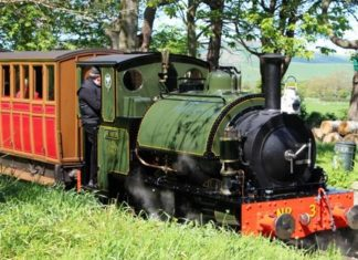 No. 3 'Sir Haydn' returns to steam at the Talyllyn Railway Founders Day