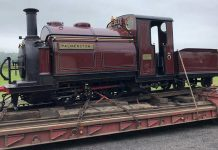 Palmerston arrives at the Bala Lake Railway