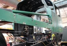 Fitting Pipework for the Lubrication System // Credit Mid Hants Railway