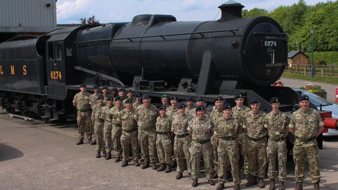 Army visit the Great Central Railway - Nottingham