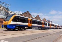 The new Class 710 London Overground trains being built and tested at Bombardier in Derby