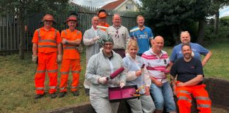 Network Rail redecorates scout hall