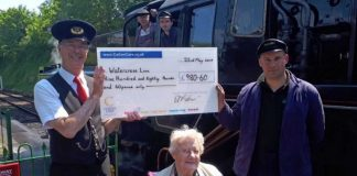 Care home residents raise £1,000 for the Mid Hants Railway