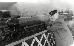 Alan Pegler with Flying Scotsman