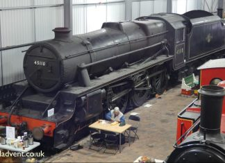 45110 at the Engine House
