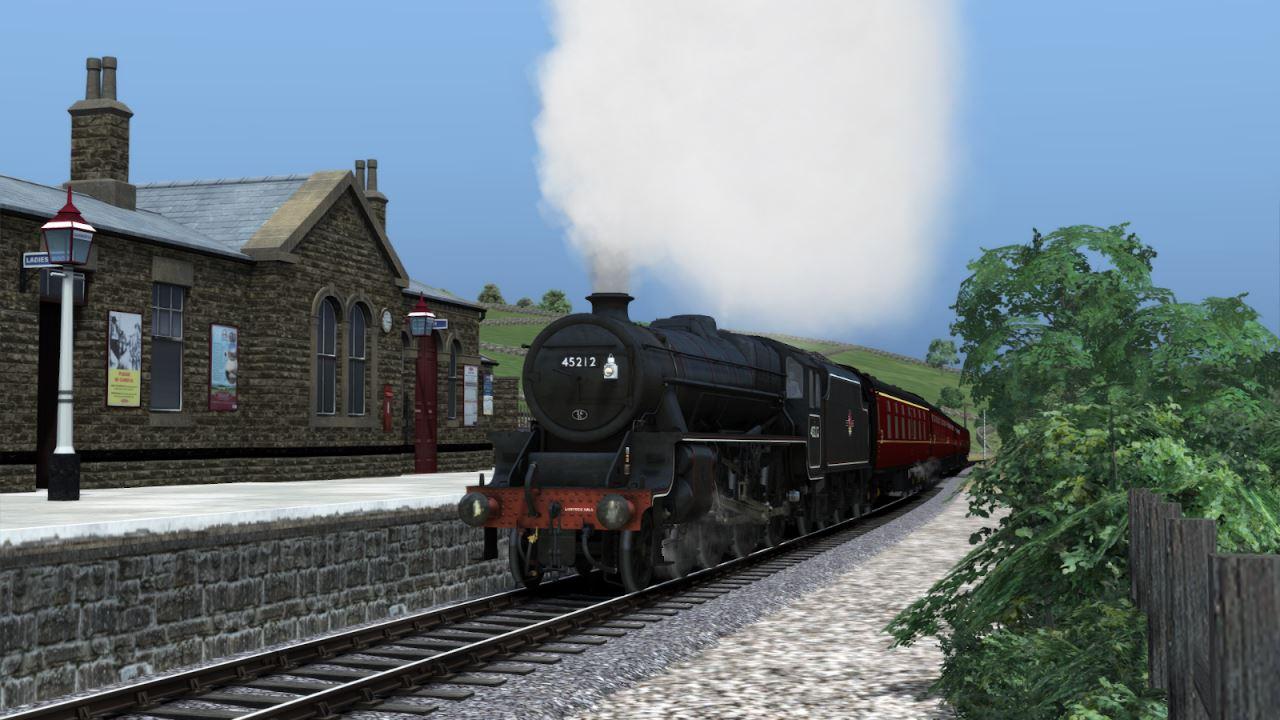 45212 at Oakworth Steam Sounds Supreme