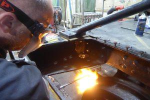 Heating Up the Guard Iron // Credit 4253 Locomotive Company