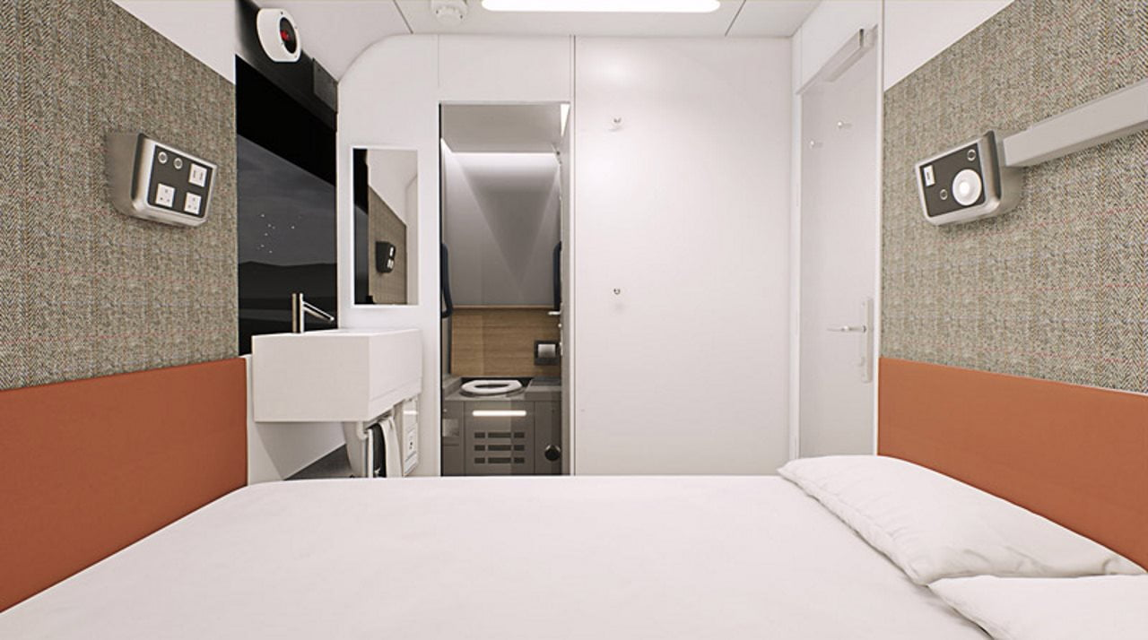 New bedrooms in Caledonian sleeper trains