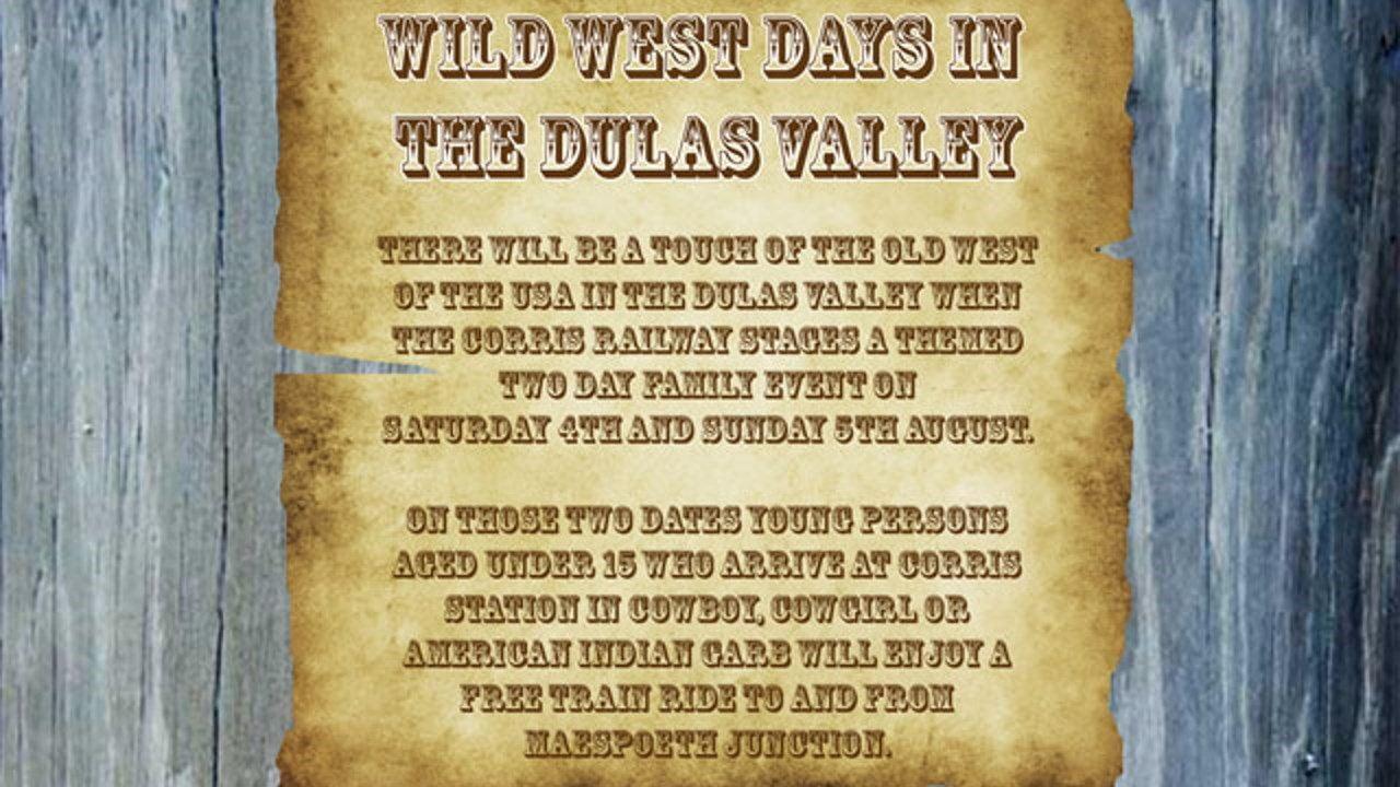 Corris Railway Wild West Days