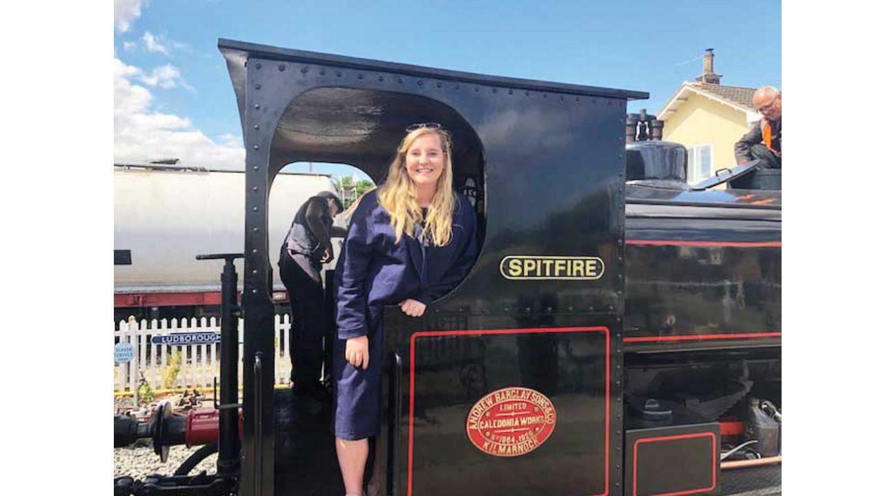 Steam train footplate ride