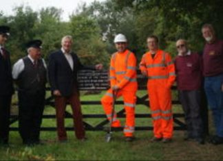 First turf moved on extension of Mid Suffolk Light Railway
