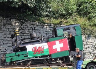 Swiss locomotive coming to Wales