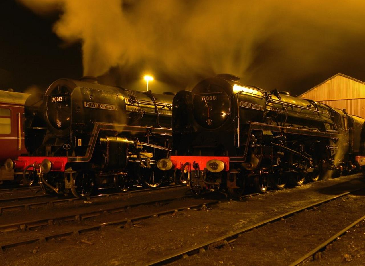 70013 Oliver Cromwell and 71000 Duke of Gloucester