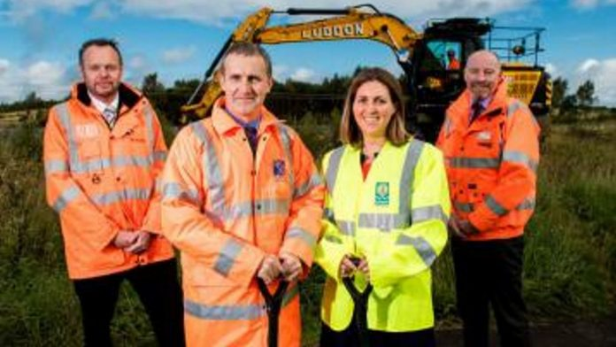 Work on the new Robroyston station begins