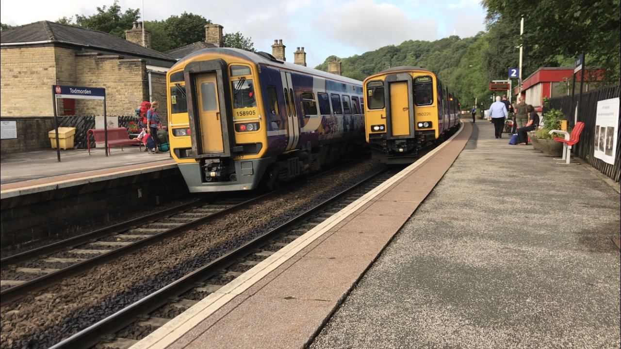 Northern trains at Todmorden - rail disruption