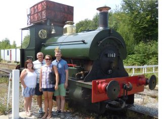 Midland Railway Butterley steam locomotive for son of driver