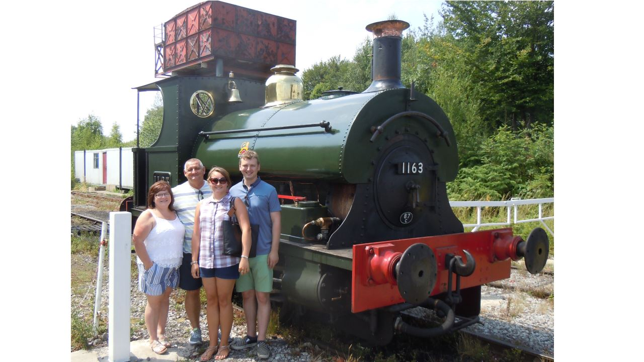 Midland Railway Butterley steam locomotive for son of driver